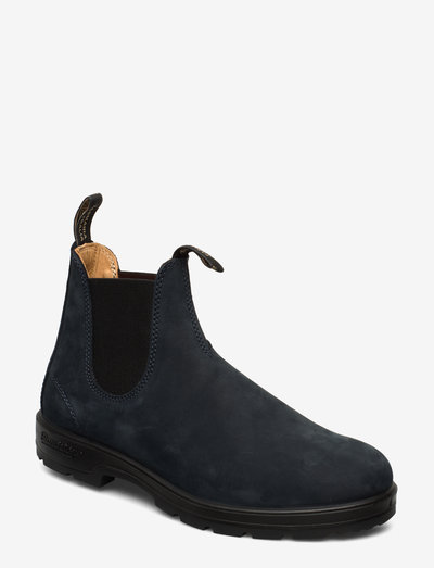 BL ELASTIC SIDE BOOT LINED - chelsea boots - navy nubuck