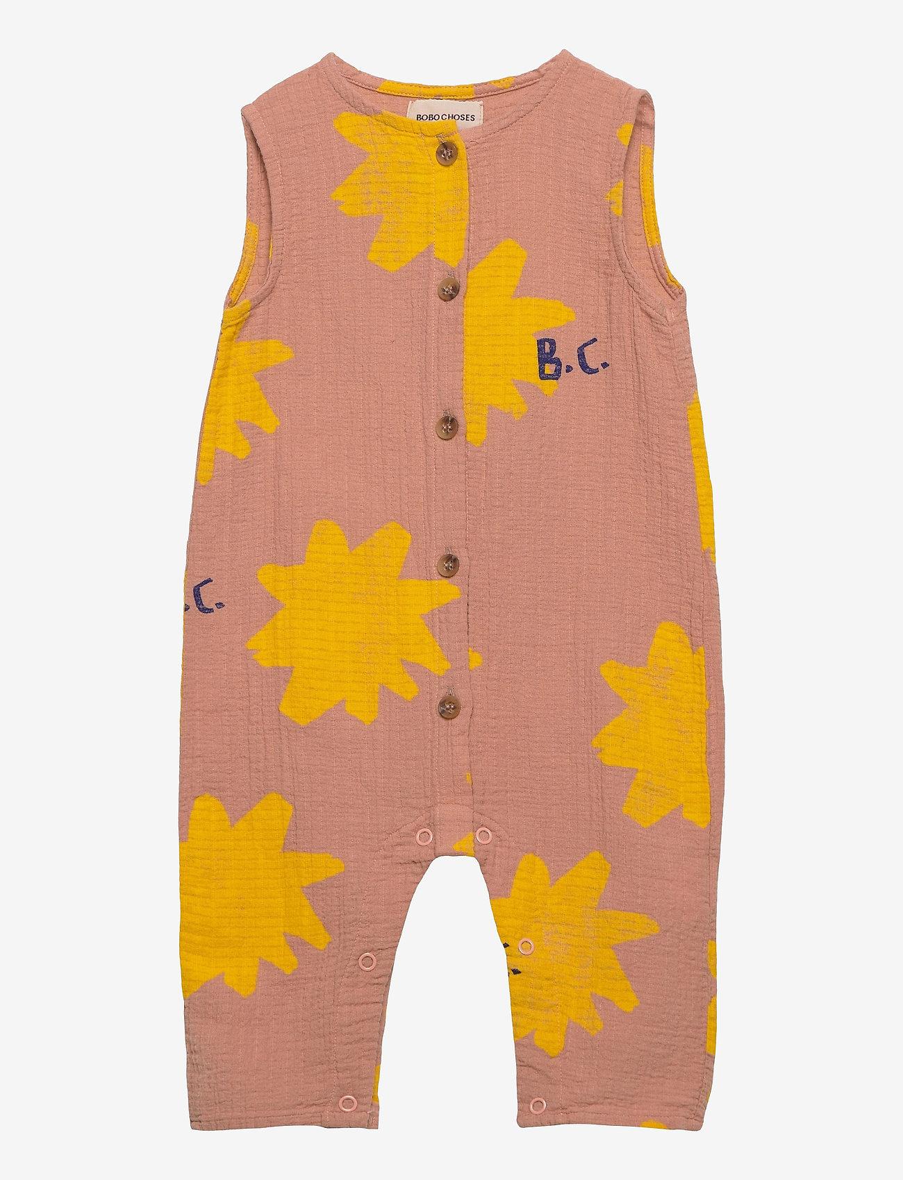 Bobo Choses - Sparkle All Over Woven Overall - kurzärmelig - dusty pink - 0