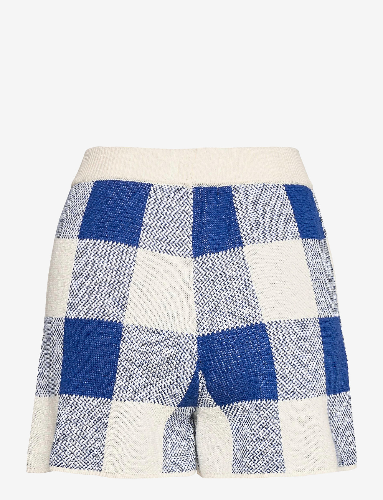 Bobo Choses - Gingham Knitted Short - shorts casual - turtledove - 1