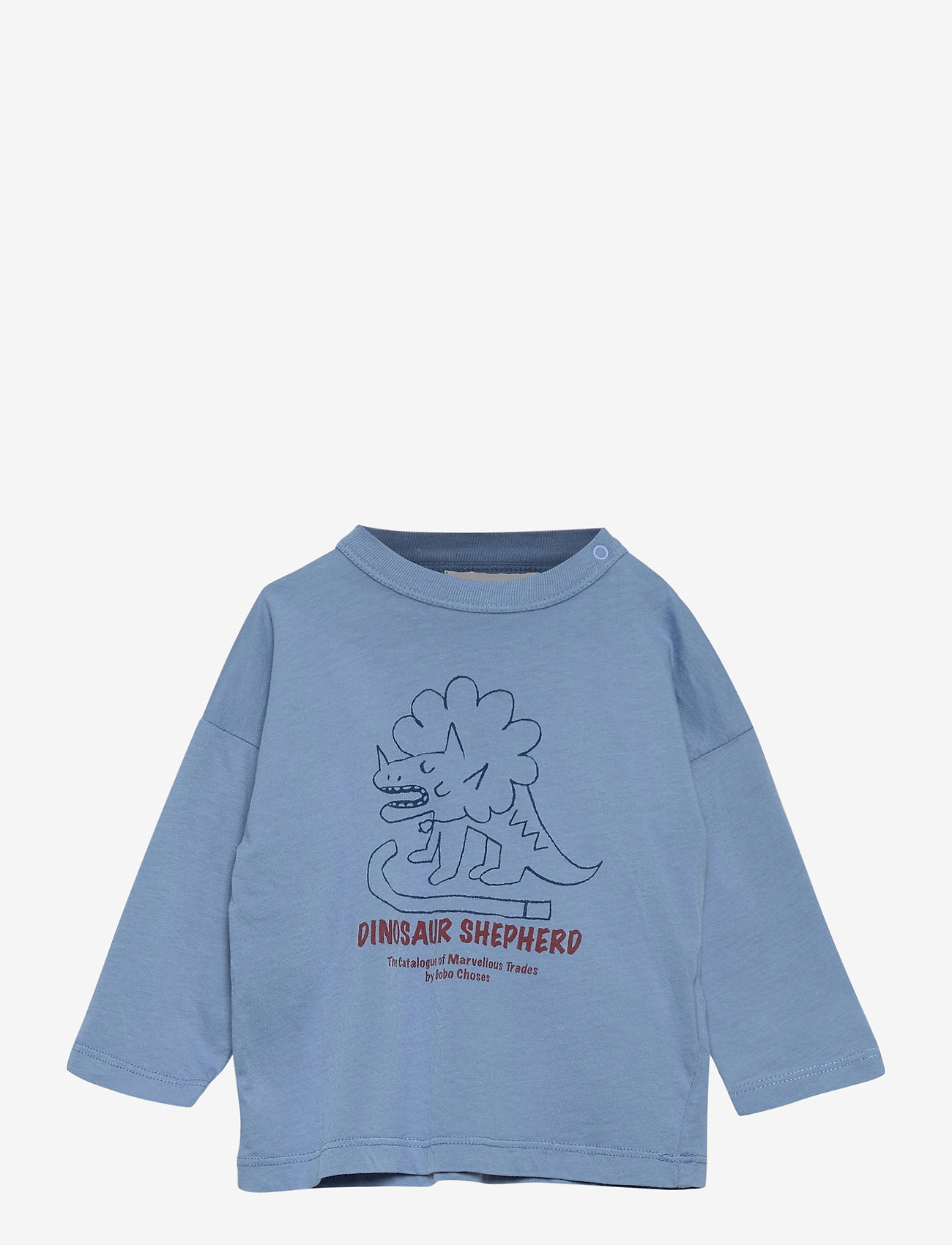 Dino Long Sleeve T-shirt (Forever Blue) (33 €) - Bobo Choses TrB9R