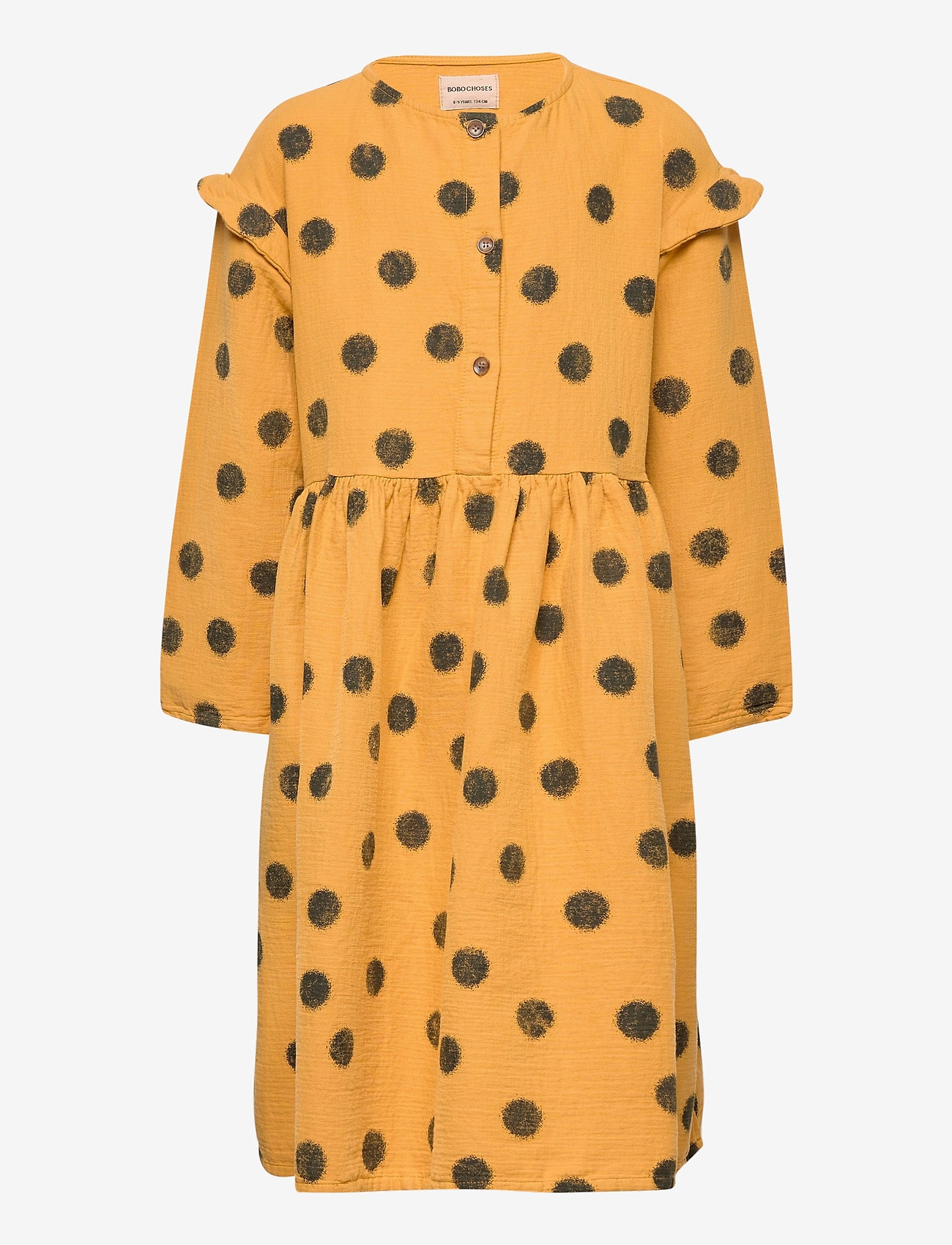 Spray Dots Woven Dress (Sunflower) (79 €) - Bobo Choses 91tmO