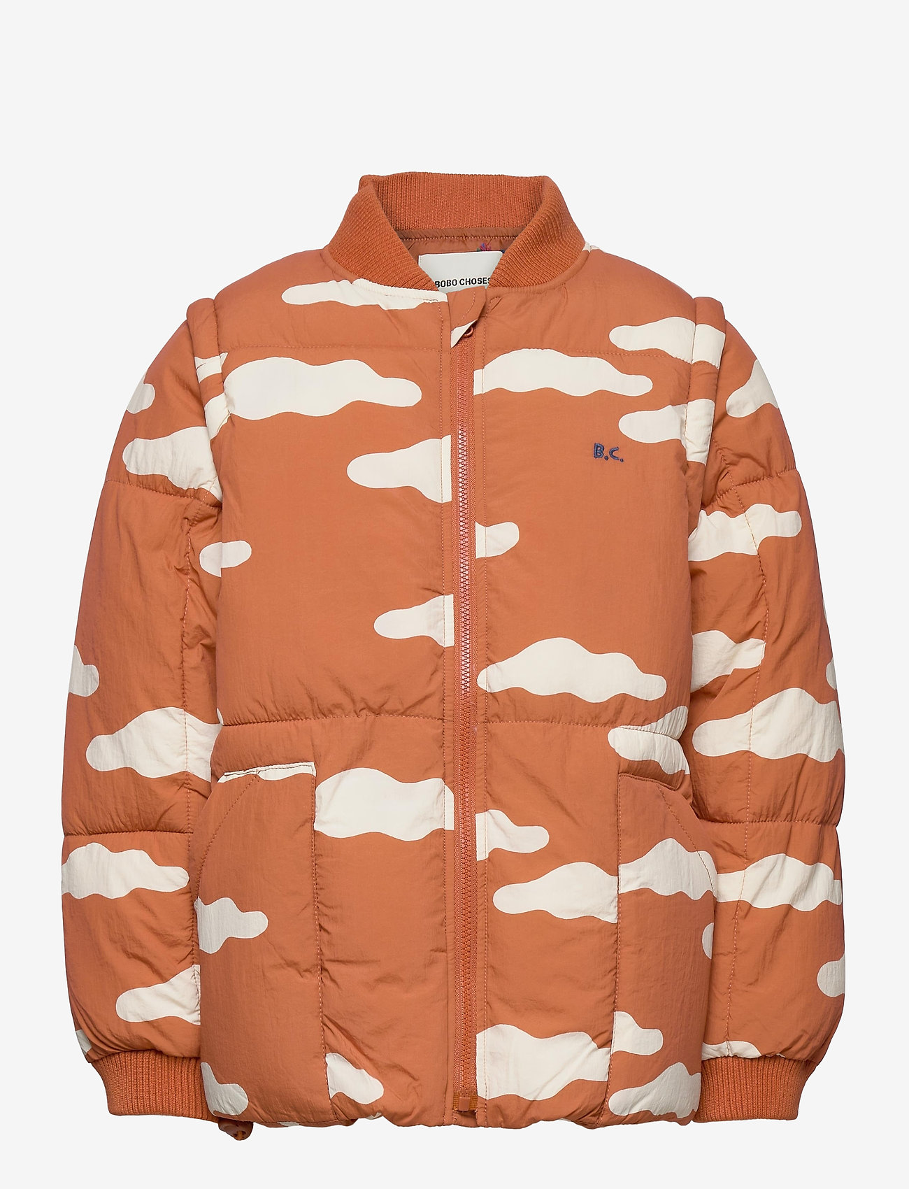 Bobo Choses - Clouds All Over Padded Jacket - puffer & padded - ketchup - 1