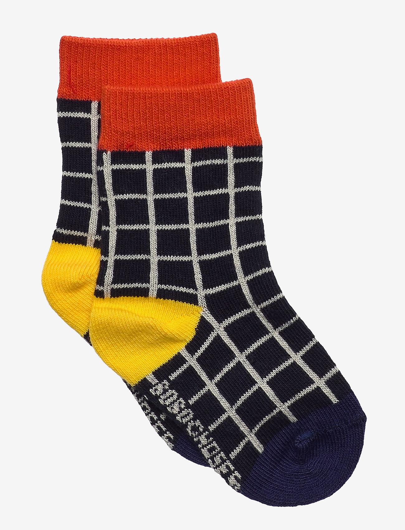 Bobo Choses - Black Checkered baby socks - skarpetki - december sky - 0