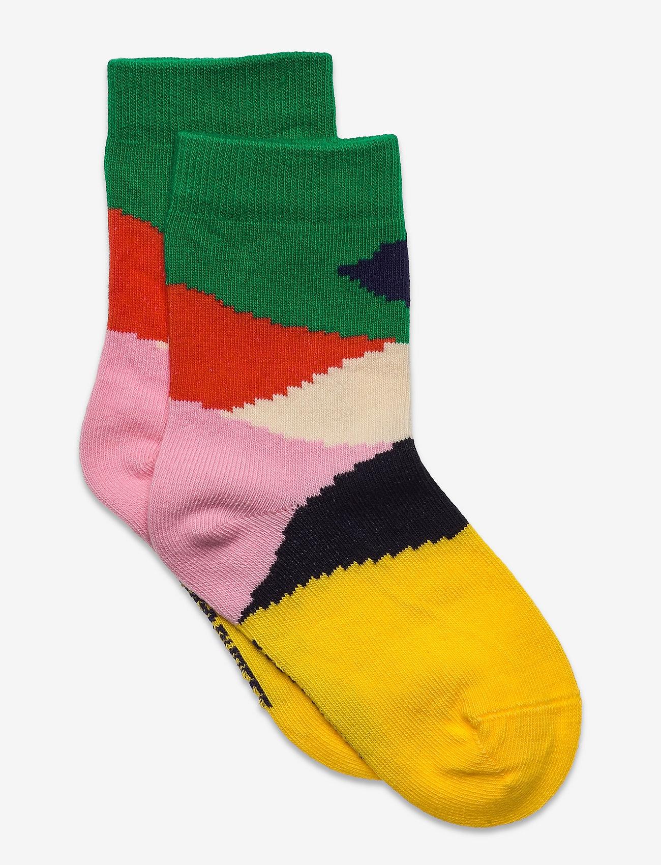 Bobo Choses - Multi Color Block short socks - skarpetki - fiesta - 0