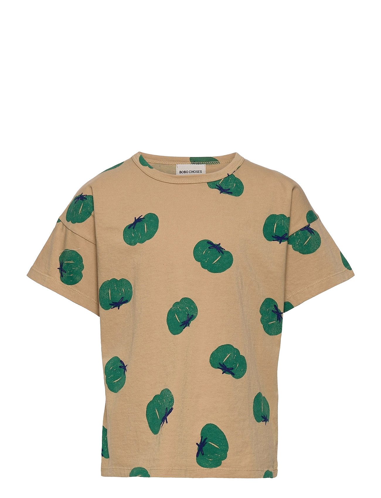 Image of Tomatoes All Over Short Sleeve T-Shirt T-shirt Grøn Bobo Choses (3493273747)