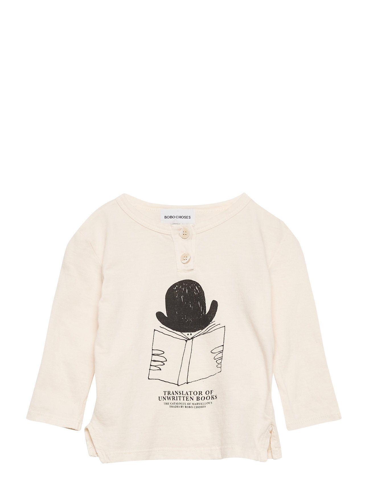 Image of Translator Buttonned T-Shirt Langærmet T-shirt Creme Bobo Choses (3433040859)