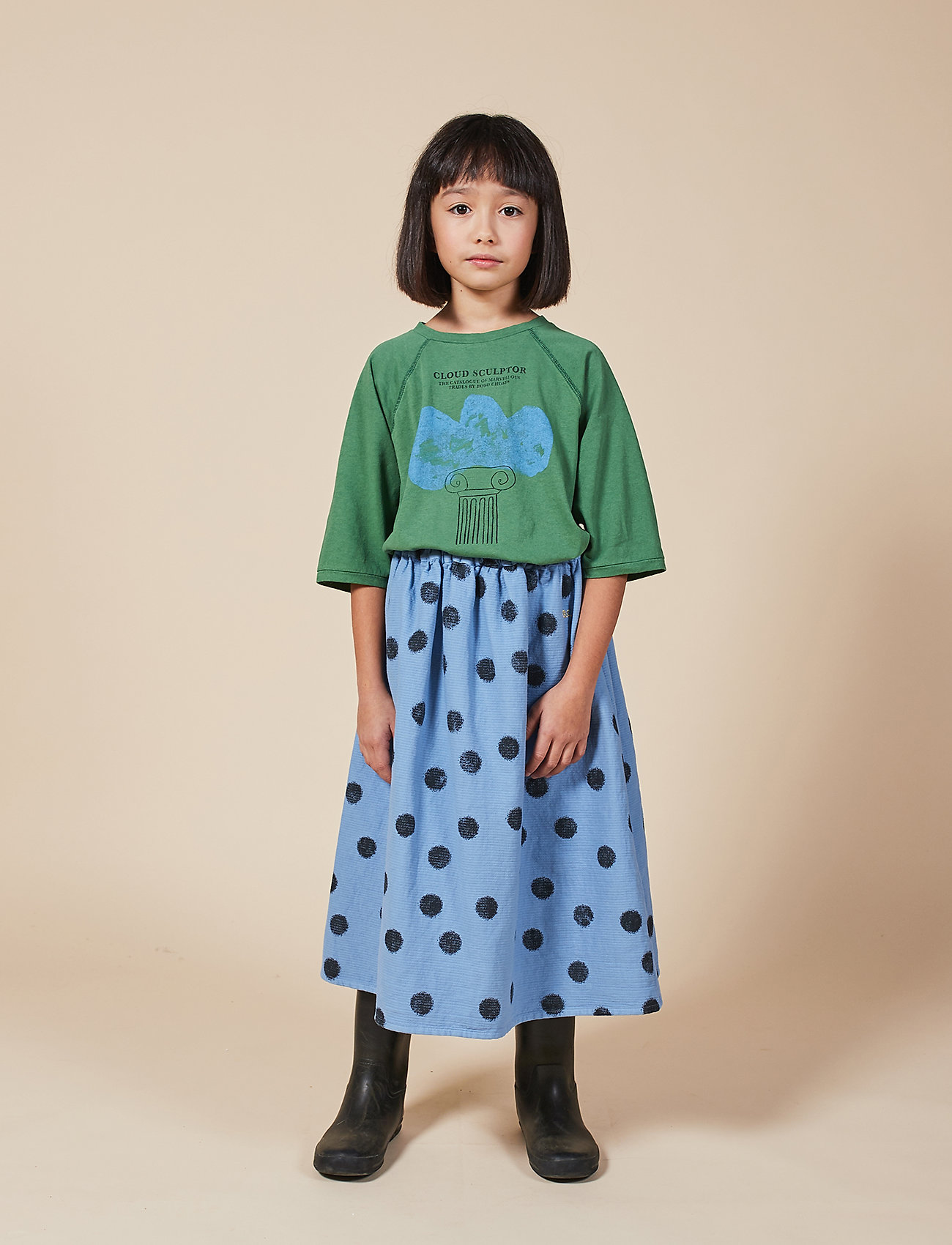 Bobo Choses - Spray Dots Woven Skirt - spódnice - forever blue - 0