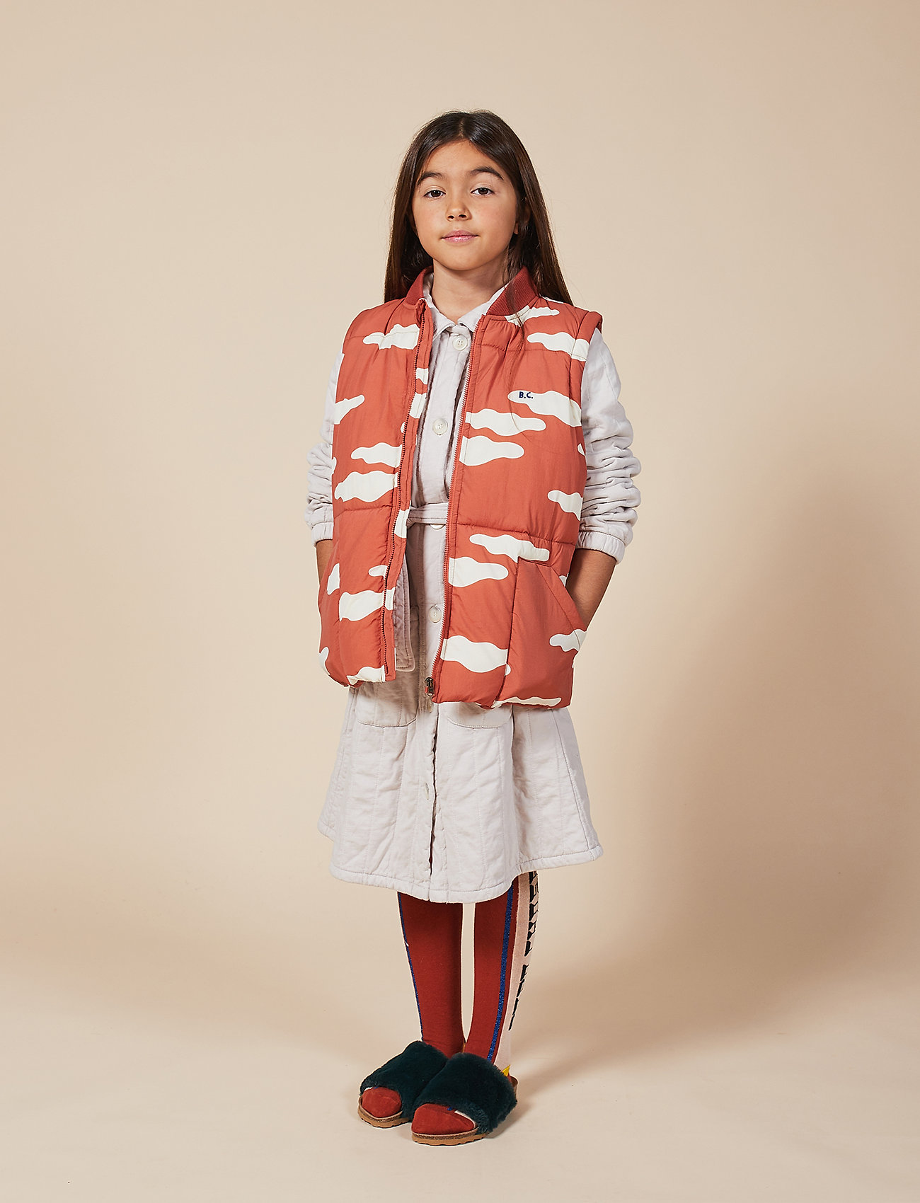 Bobo Choses - Clouds All Over Padded Jacket - puffer & padded - ketchup - 0