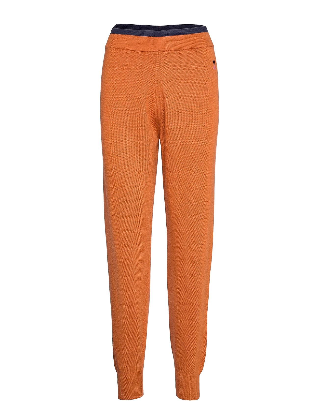 Rib Knitted Pants Casual Bukser Orange Bobo Choses
