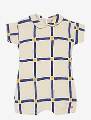 Bobo Choses - Cube All Over Woven Playsuit - kurzärmelig - white swan - 0