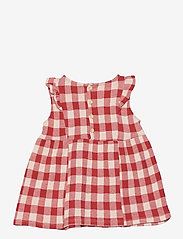 Bobo Choses - Vichy All Over Jersey Ruffle Dress - jurken & rokjes - dusty pink - 1