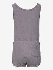 Bobo Choses - Crosswise Stripes Fleece Playsuit - kurzärmelig - lavender aura - 1