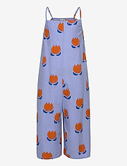 Bobo Choses - Chocolate Flowers All Over Woven Overall - dungarees - powder blue - 0