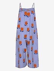 Bobo Choses - Chocolate Flowers All Over Woven Overall - dungarees - powder blue - 1