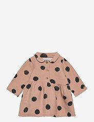 Bobo Choses - Spray Dots Princess Dress - robes - rose tan - 0
