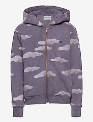 Bobo Choses - Clouds All Over Zipped Hoodie - hættetrøjer - grape compote - 1