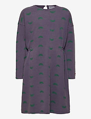 Bobo Choses - Umbrella All Over Fleece Dress - kjoler - grape compote - 1