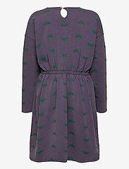 Bobo Choses - Umbrella All Over Fleece Dress - kjoler - grape compote - 2