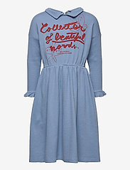 Bobo Choses - Collector Of Beautiful Words Dress - robes - forever blue - 0