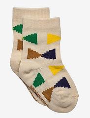 Bobo Choses - Ecru Geometric baby socks - skarpetki - rainy day - 0