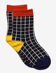 Bobo Choses - Black Checkered short socks - skarpetki - december sky - 0