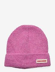 Bobo Choses - Pink Brushed Beanie - mössor - prism pink - 0