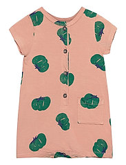Tomatoes All Over Playsuit - DUSTY PINK