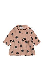 Spray Dots Princess Dress - ROSE TAN