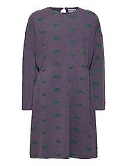 Umbrella All Over Fleece Dress - GRAPE COMPOTE