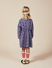 Bobo Choses - Umbrella All Over Fleece Dress - kjoler - grape compote - 3