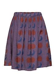 Solar Eclipse Woven Skirt - GRAPE COMPOTE