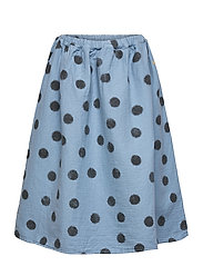 Spray Dots Woven Skirt - FOREVER BLUE