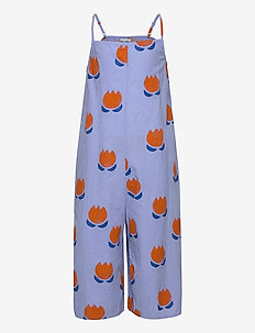 Chocolate Flowers All Over Woven Overall - dungarees - powder blue