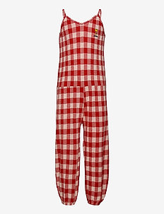 Vichy Jersey Overall - jumpsuits - turtledove