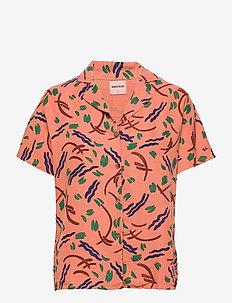 Brush Stroke Shirt - kortermede skjorter - topaz
