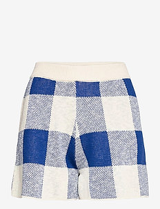 Gingham Knitted Short - shorts casual - turtledove