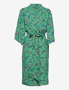 Brush Stroke Kimono - kimonos - mint