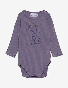 Cat Long Sleeve Body - langærmede - grape compote