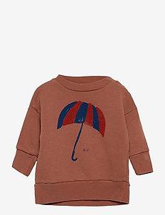 Umbrella Sweatshirt - sweatshirts - mahogany