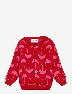 Umbrella All Over Cardigan - cardigans - red