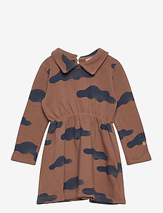 Clouds All Over Dress - jurken & rokjes - mahogany