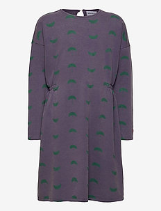 Umbrella All Over Fleece Dress - robes - grape compote