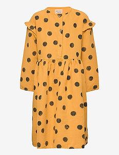 Spray Dots Woven Dress - kleider - sunflower