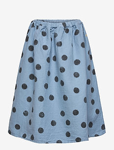 Spray Dots Woven Skirt - spódnice - forever blue
