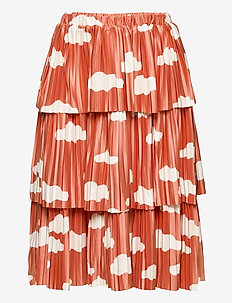 Clouds All Over Woven Skirt - spódnice - ketchup