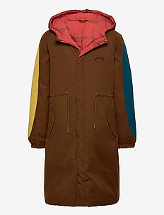 Reversible Bobo Choses All Over Parka - parkas - red