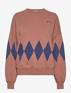 Diamonds Sweatshirt - sweatshirts - mahogany