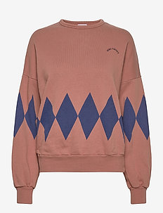 Diamonds Sweatshirt - sweats - mahogany