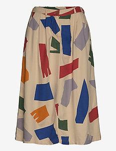 Shadows Woven Skirt - jupes midi - brown rice