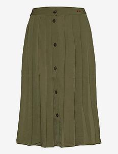 Pleated Midi Skirt - jupes midi - greener pastures